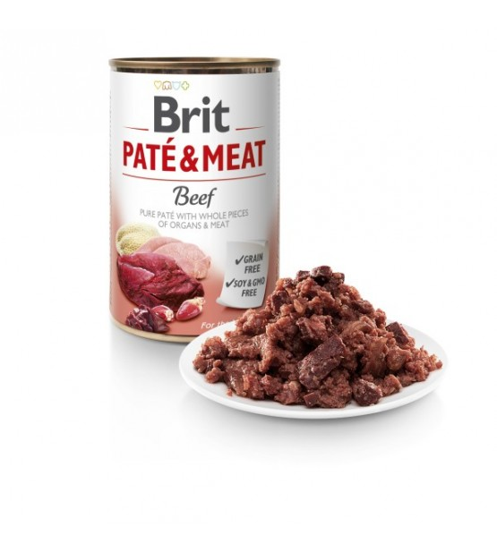 Brit Care Beef Pate&Meat konservai šunims