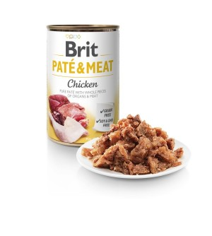 BRIT CARE Chicken Pate & Meat konservai šunims 400g