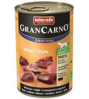 Animonda Gran Carno Adult konservai šunims su jautiena ir kalakutiena