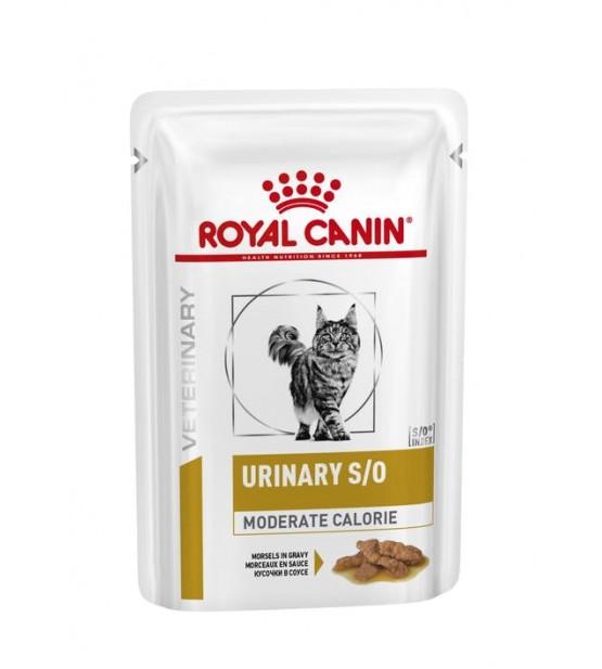 Royal Canin VD Feline Urinary S/O Moderate Calorie pouch gabalėliai padaže
