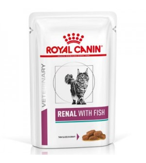 Royal Canin VD Feline Renal With Fish gabalėliai padaže