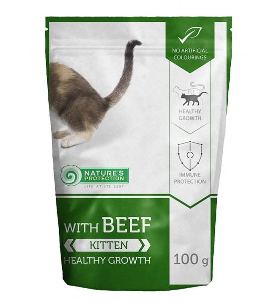 Natures Protection Kitten Healthy Growth Beef konservai kačiukams