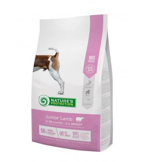 Natures Protection Junior Lamb sausas maistas šunims