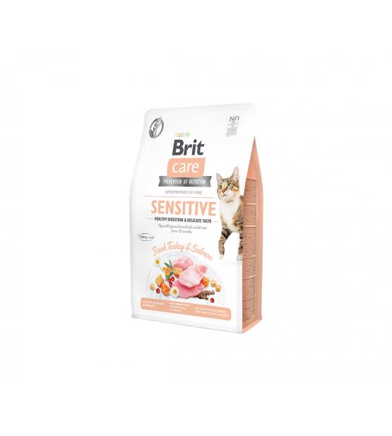 Brit Care Cat GF Sensitive Healthy Digestion & Delicate Taste sausas maistas katėms