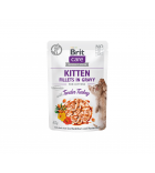 Brit Care Cat konservai kačiukams Fillets in Gravy Turkey