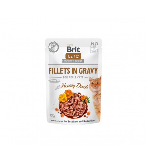 Brit Care Cat konservai katėms Fillets in Gravy Hearty Duck
