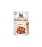 Brit Care Cat konservai katėms Fillets in Gravy Hearty Duck