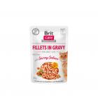 Brit Care Cat konservai katėms Fillets in Gravy Savory Salmon