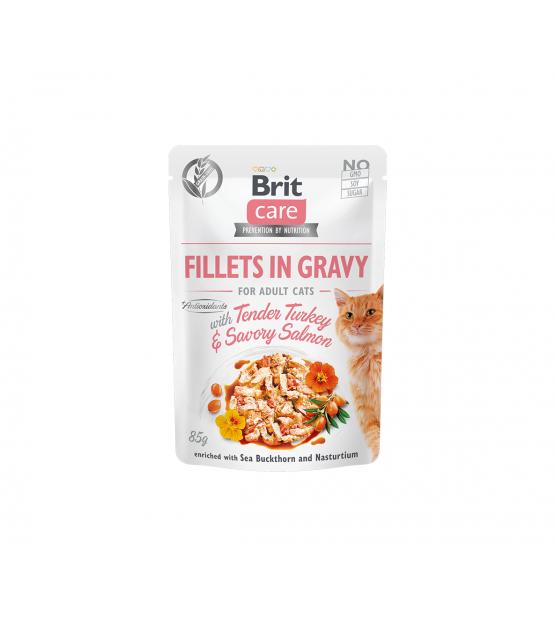 Brit Care Cat konservai katėms Fillets in Gravy Turkey & Salmon