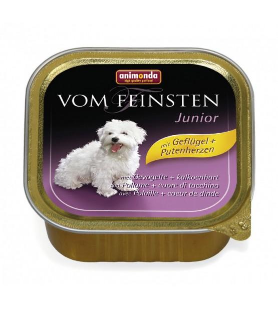 Vom Feinsten Junior konservai šunims su paukštiena ir kalakutų širdimis
