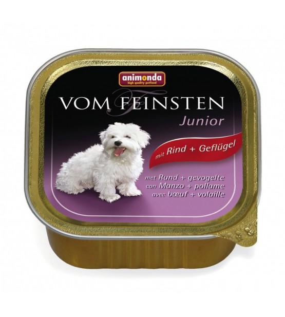 Vom Feinsten Junior konservai šunims su jautiena ir paukštiena