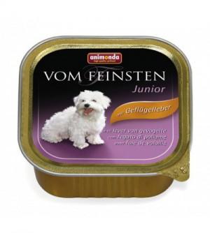 Vom Feinsten Junior konservai šunims su paukštienos kepenėlėmis