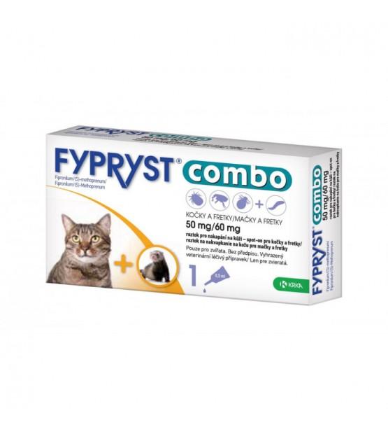 Fypryst Combo antiparazitinis užlašinamas tirpalas katėms ir šeškams (1vnt.)