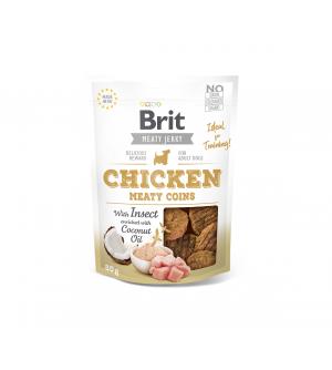 Brit Jerky Chicken Meaty Coins skanėstas, 80g