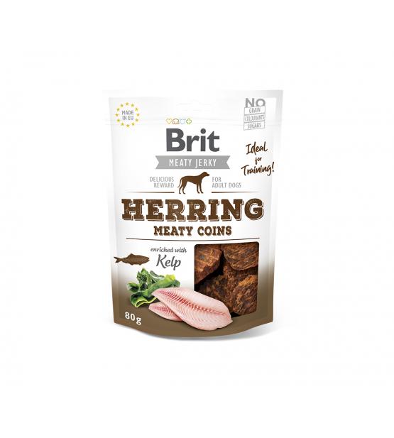 Brit Jerky Herring Meaty Coins skanėstas, 80g