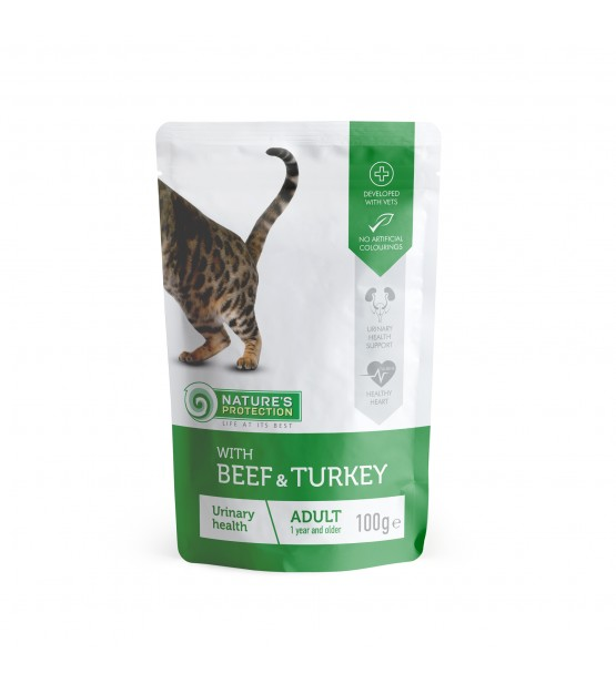 Natures Protection Urinary Health Beef Turkey konservai katėms