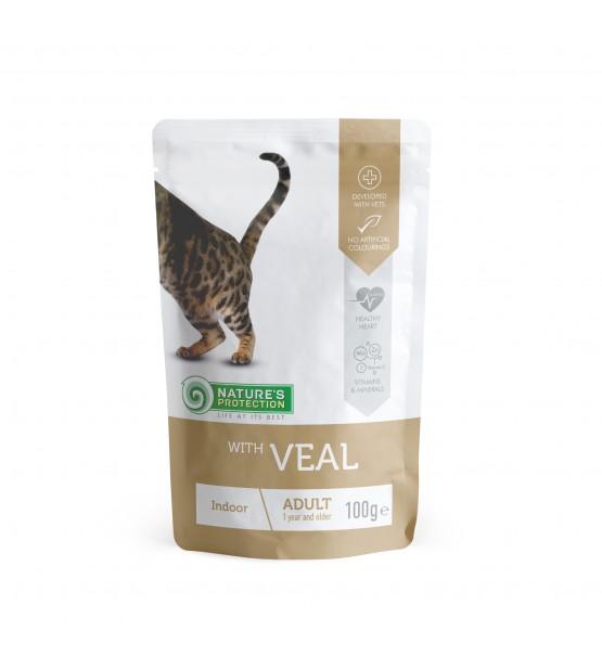 Natures Protection Indoor Veal konservai katėms
