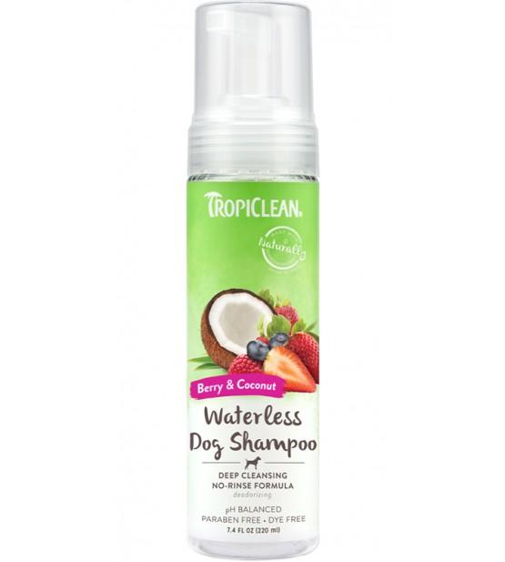 Tropiclean Waterless Dog Shampoo Berry&Coconut giluminis sausas šampūnas šunims