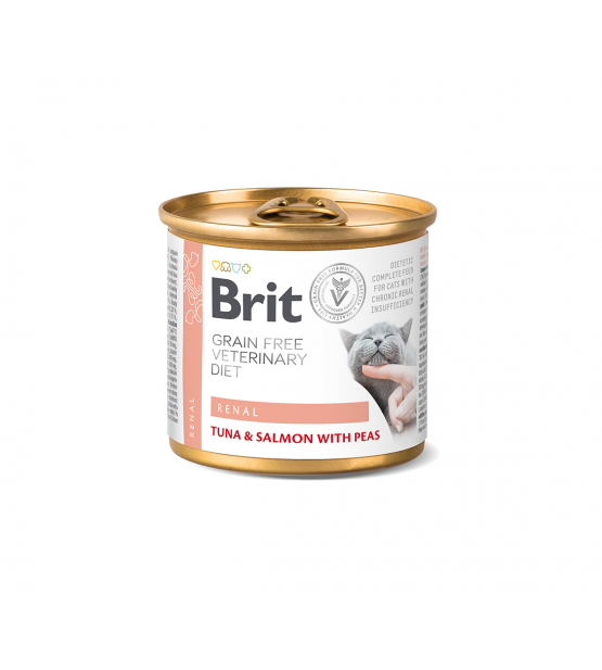 Brit GF Veterinary Diets Renal konservai katėms, 200g