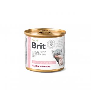 Brit GF Veterinary Diets Hypoallergenic konservai katėms, 200g