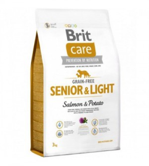 Brit Care Senior & Light Salmon sausas maistas šunims