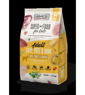 Mac's Cat Dry Adult sausas maistas katėms su antiena, kalakutiena ir vištiena