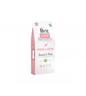 Brit Care Dog Hair & Skin Insect & Fish sausas maistas šunims
