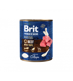 Brit Premium BY NATURE konservai šunims Beef with Tripes