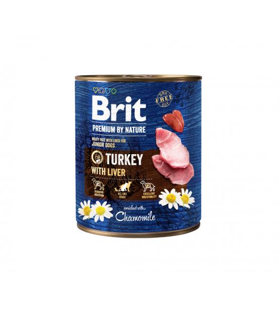 Brit Premium BY NATURE konservai šunims Turkey with Liver