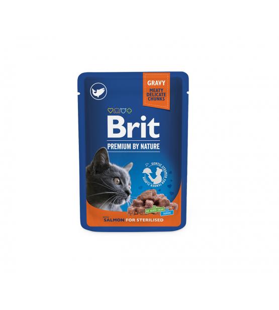 BRIT PREMIUM Cat Pouch Salmon Steril. konservai katėms 100g
