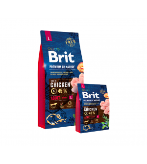 Brit Premium BY NATURE Adult L sausas maistas šunims