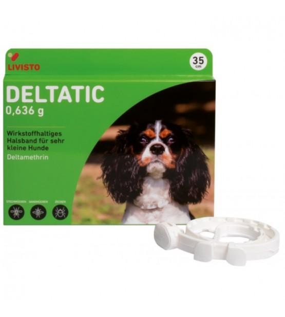 Deltatic antkaklis nuo erkių, blusų ir uodų šunims, 35 cm
