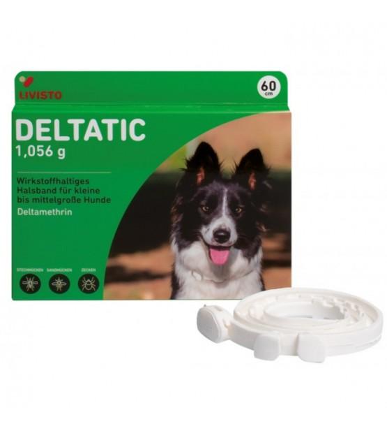 Deltatic antkaklis nuo erkių, blusų ir uodų šunims, 60 cm