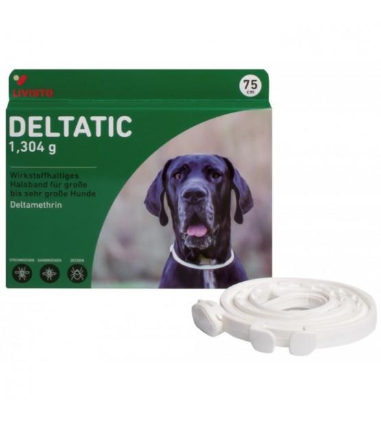 Deltatic antkaklis nuo erkių, blusų ir uodų šunims, 75 cm