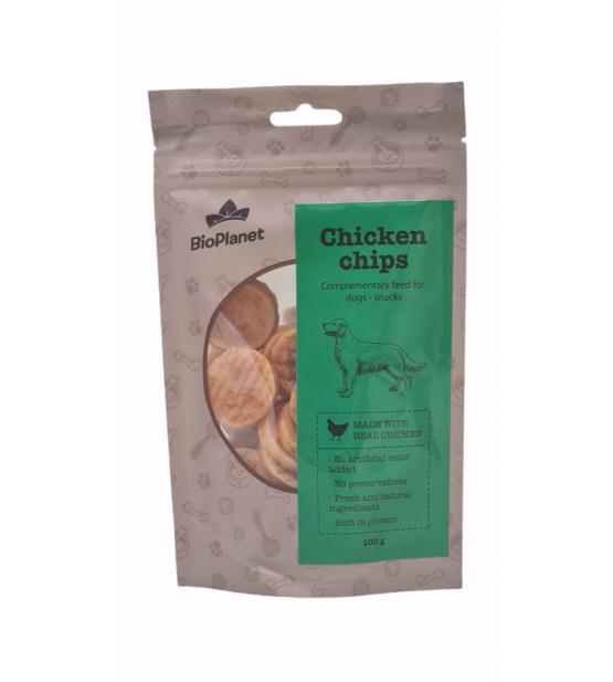 BioPlanet Snack Chicken Chips skanėstai šunims 100g