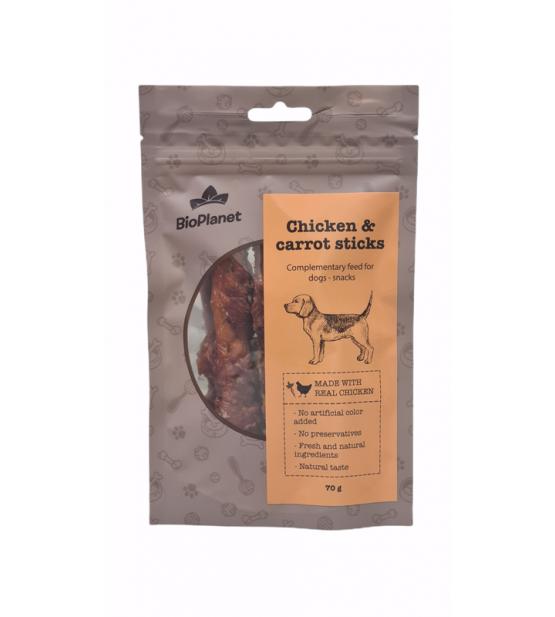 BioPlanet Snack Chicken Carrot skanėstai šunims 70g