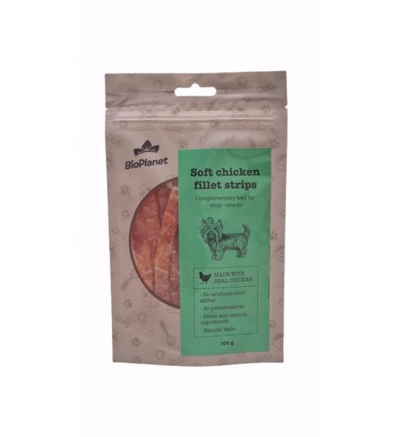 BioPlanet Snack Soft Chicken Strips skanėstas šunims 100g