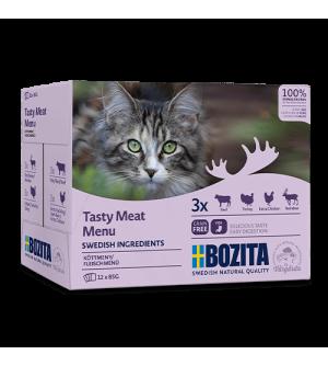Bozita konservų katėms rinkinys su mėsa padaže