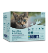 Bozita konservų katėms rinkinys su žuvimi ir mėsa padaže