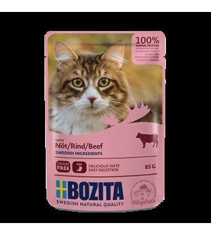 Bozita konservai katėms - jautiena padaže