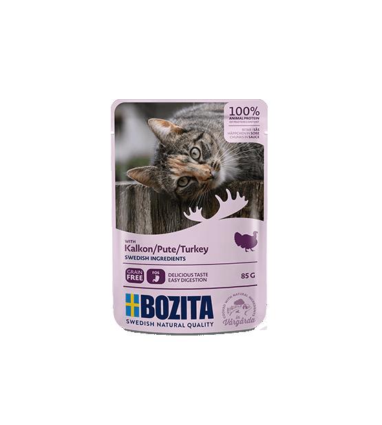 Bozita konservai katėms - kalakutiena padaže