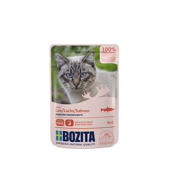 Bozita konservai katėms - lašišos gabaliukai padaže