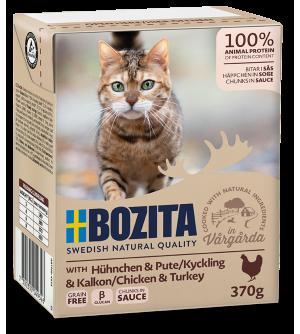 Bozita Cat konservai katėms su vištiena ir kalakutiena padaže
