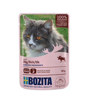 Bozita konservai katėms - briedienos gabaliukai drebučiuose