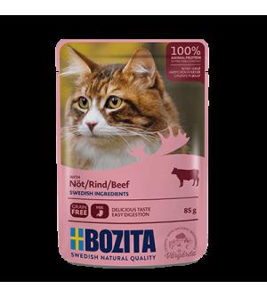 Bozita konservai katėms - jautienos gabaliukai drebučiuose