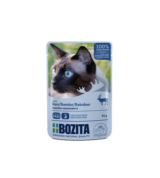 Bozita konservai katėms - elnienos gabaliukai drebučiuose