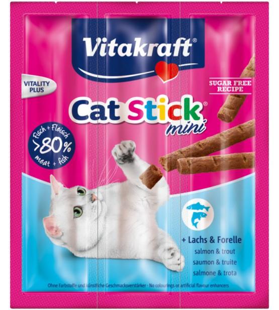 Vitakraft Cat Stick Mini su Lašiša ir Upėtakiu