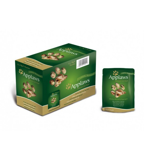 Applaws Cat Chicken Breast & Asparagus pouch konservai katėms